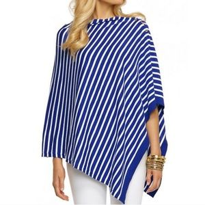 Lilly Pulitzer Blue Striped Poncho Top